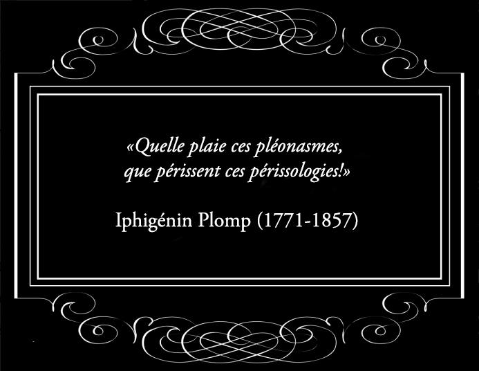 Pléonasmes